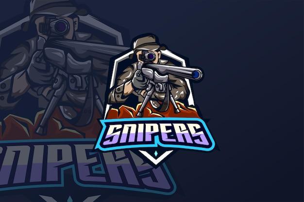 Snipers - modèle de logo esport