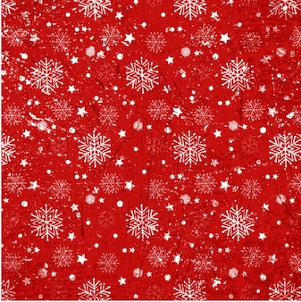 Snoflakes sur une texture de fond rouge