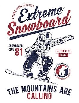 Snowboard extrême