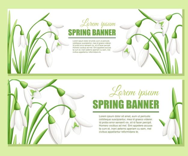 Snowdrop publicité carte de voeux design illustration plate
