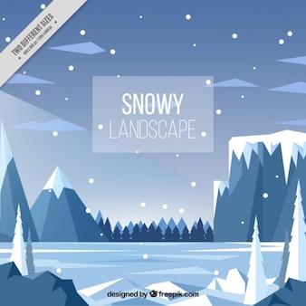 Snowy fond de paysage