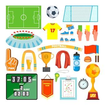 Soccer icons set