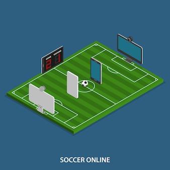 Soccer en ligne isométrique