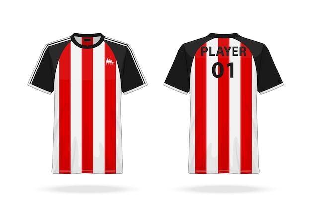 Soccer sport et esport t-shirt à col rond jersey