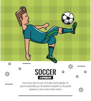 Soccer tournoi infographique avec des éléments