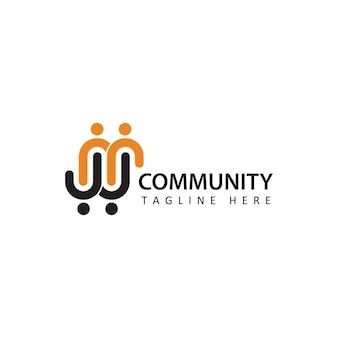 Social humain, unité, ensemble, connexion, relation, logo de la communauté, vecteur de conception de modèle de logo de lettre initiale mw