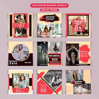 Social media shopping pack pour instagram