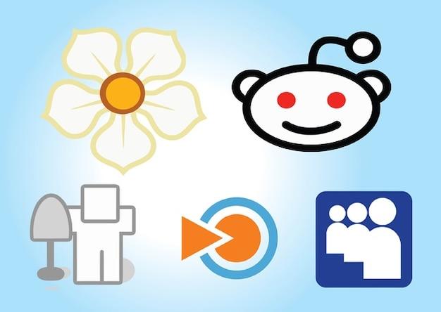 Sociale des icônes des médias mis en