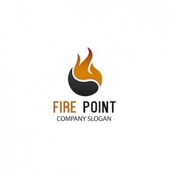 Société flame logo template