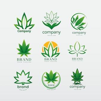 Société de logo de cannabis