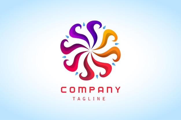 Société de logo dégradé abstrait coloré