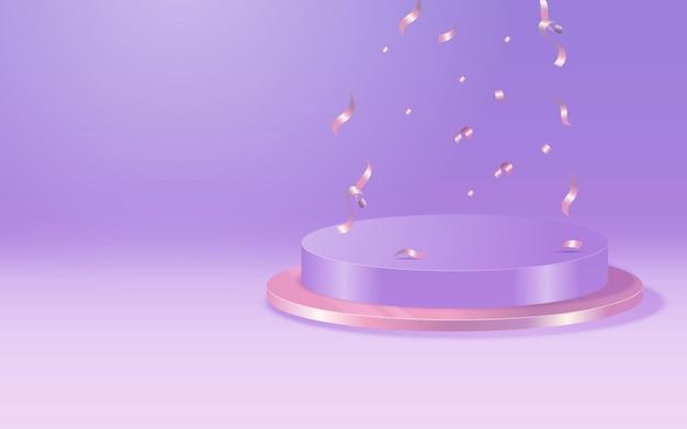 Socles élégants blancs de forme cylindrique pour un objet, ou une présentation de produit