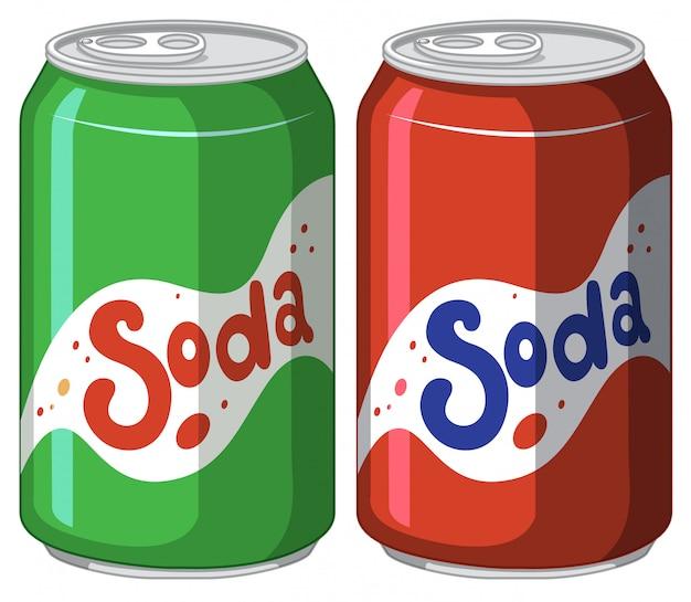 Soda peut en aluminium sur blanc
