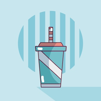 Soda sur tasse en plastique