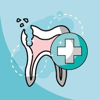 Soins dentaires dentaires dents cassées