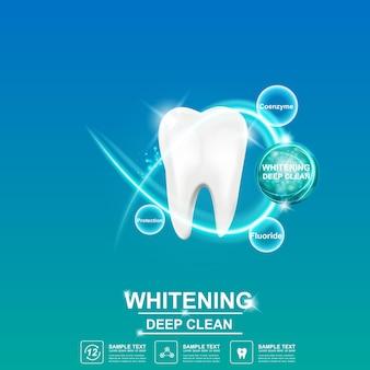 Soins dentaires et dents sur le concept de fond.