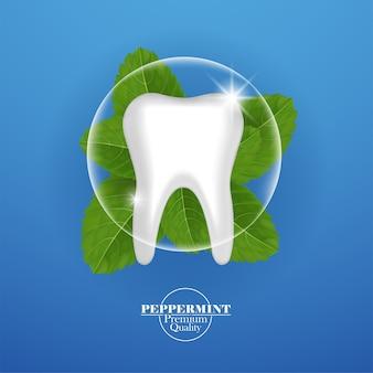 Soins dentaires à la feuille de menthe poivrée