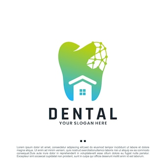 Soins dentaires, technologie, inspiration de conception de logo