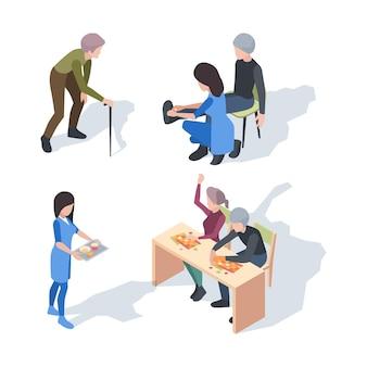 Soins à domicile. aide aux activités de mode de vie des personnes âgées clinique de soins infirmiers médicaux supérieurs
