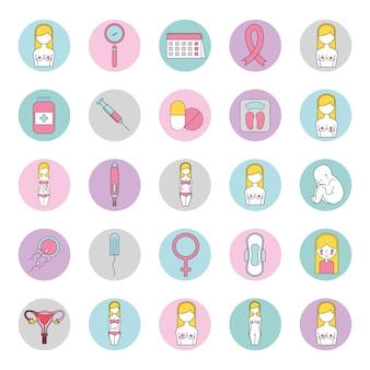 Soins de la féminité mis en icônes