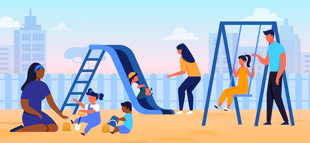 Soins parentaux, illustration vectorielle plate de la parentalité