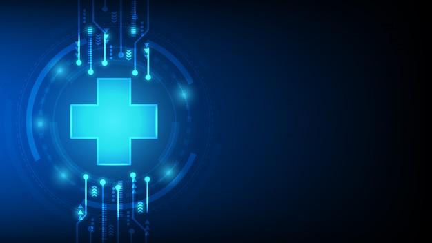 Soins de santé et médical abstrait futuriste