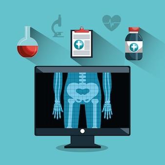 Soins de santé numériques différents services médicaux