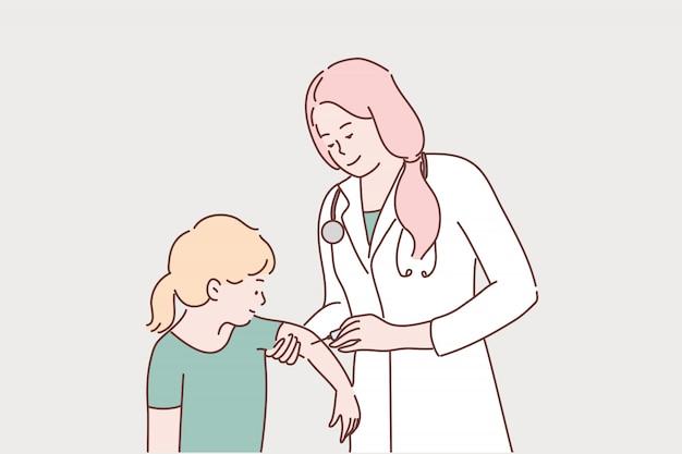 Soins de santé, vaccination, médecine, coronavirus, concept d'infection