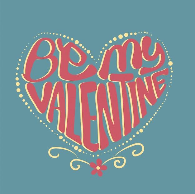 Sois ma typographie de la saint-valentin en forme de coeur