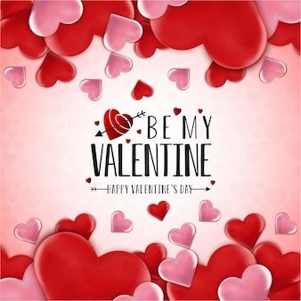 Sois mon valentin. fond de coeur d'amour