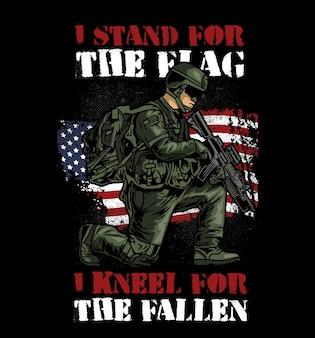 Soldat à genoux