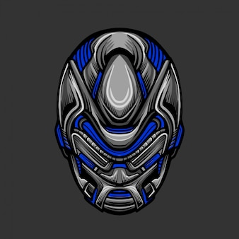 Soldat mask 8 illustration vectorielle