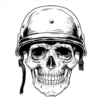Soldat militaire crâne tête casque combattant guerrier, guerre, soldat, fantassin, os