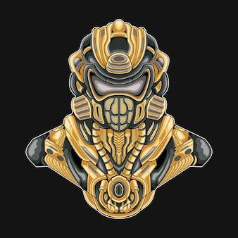 Soldat militaire mecha robotique illustration