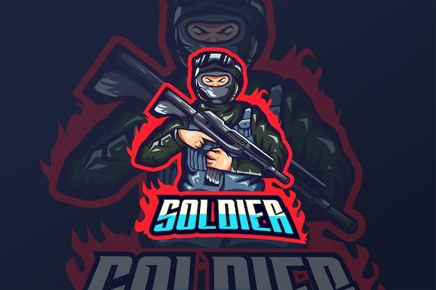 Soldat - modèle de logo esport