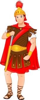 Soldats romains tenant des épées