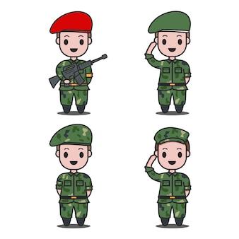 Les soldats saluent le caractère