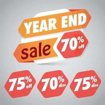Solde de fin d'année 10% 15% de rabais