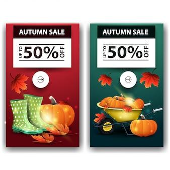 Soldes d'automne, bannières discount