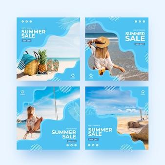 Soldes d'été de fin de saison instagram post