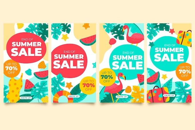 Soldes d'été de fin de saison - instagram stories