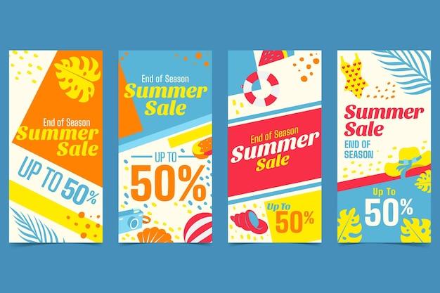 Soldes d'été de fin de saison instagram stories