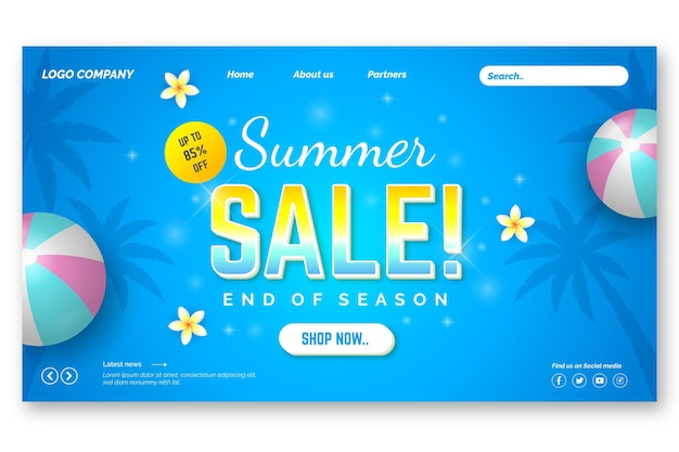 Soldes d'été de fin de saison - landing page