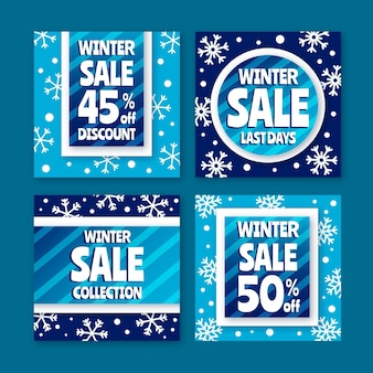 Soldes d'hiver instagram post collection