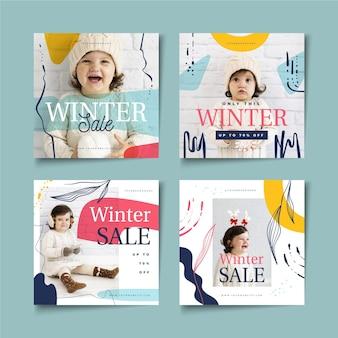 Soldes d'hiver instagram post collection