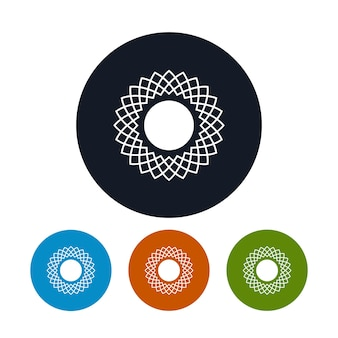 Soleil d'abstrac d'icône, les quatre types de soleil d'icônes rondes colorées, illustration de vecteur