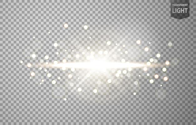 Soleil abstrait brille avec une lumière parasite