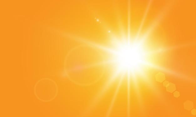 Soleil chaud sur fond jaune