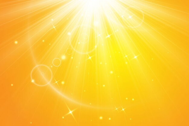 Soleil chaud . rayons solaires leto.bliki