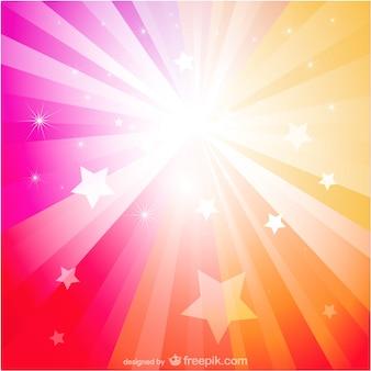 Soleil fond abstrait